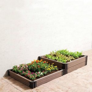 EasyBed DIY Stackable Planting Boxes | Mahogany